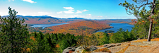 View of Adirondacks from Silver Lake Mountain
